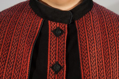 Celtic Braid Coat - detail showing buttons
