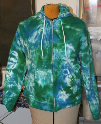blue green sweatshirt