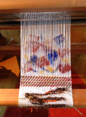 Teddie's experiments with warp painting and inlay