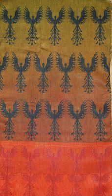 black weft double weave - black phoenixes