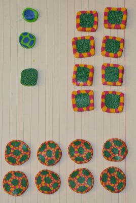 polymer clay experiments - first set of pieces