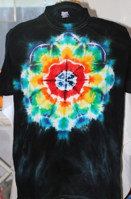 Tien's first attempt at a mandala T-shirt