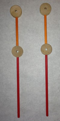 Supports for a Tinkertoy swift