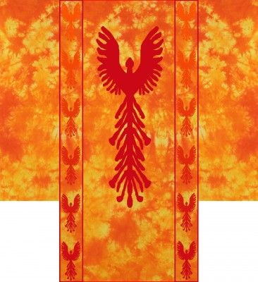 first draft design for Phoenix Rising kimono