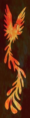 simulated phoenix rising yardage
