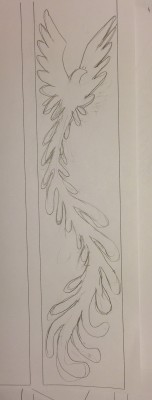 second sketch for Phoenix Rising yardage
