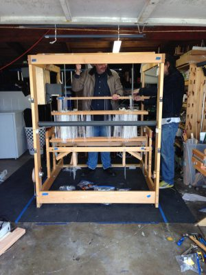 hanging the shafts inside the frame