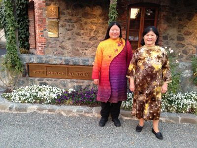 Me and my mom at The French Laundry
