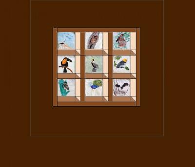 """quilt design, """"Attic Windows"""" block"""