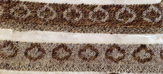 woven sample using handspun yarn