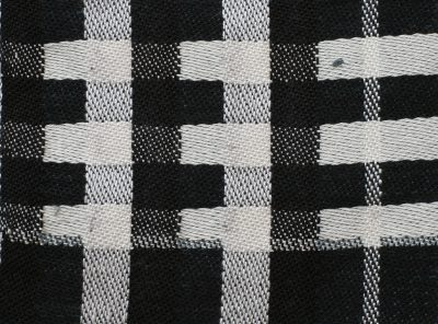 woven sample, pure black and white