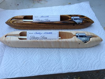 bocote and curly maple shuttles