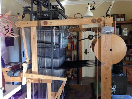 AVL Jacq3G jacquard loom, side view