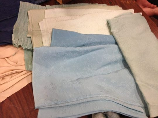 fresh indigo samples - fabric