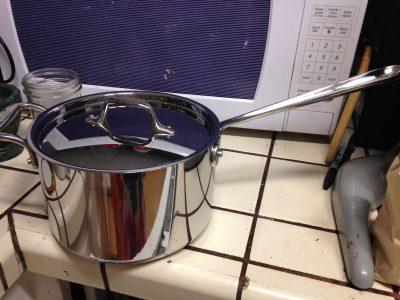 4-quart All-Clad saucepan