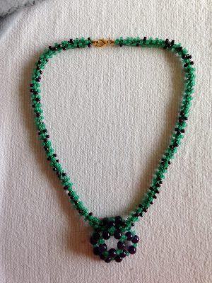 Green and purple beads