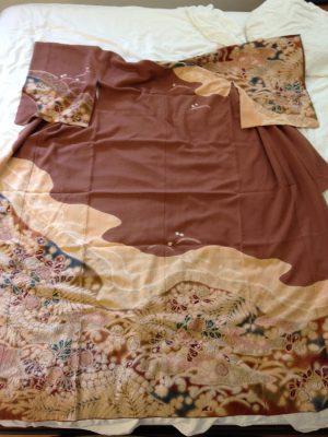 tsujigahana kimono - full view