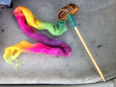 spindle + roving = exercise motivator!