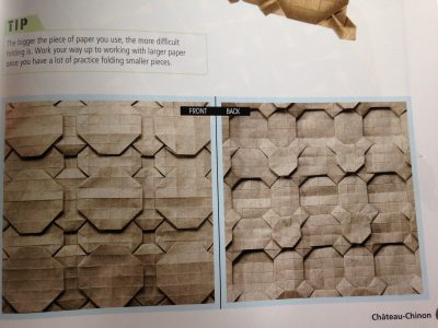 an origami tessellation