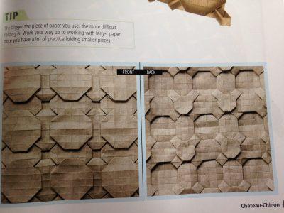 an origami tessellation