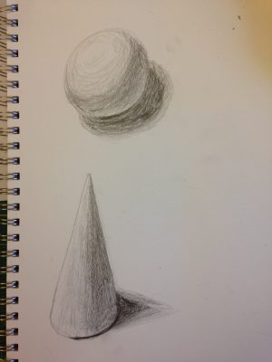 shading exercise - ball and cone