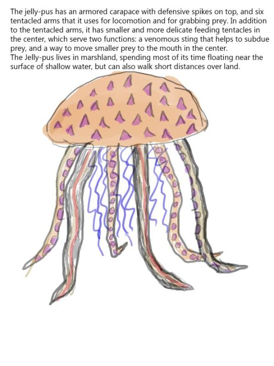 The armored jellypus