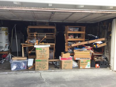 """before"" photo of garage"