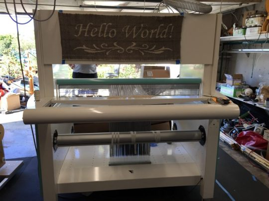 "A handwoven ""Hello World!"""