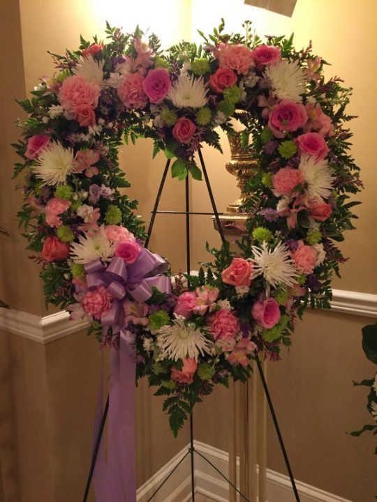 my wreath for my mom