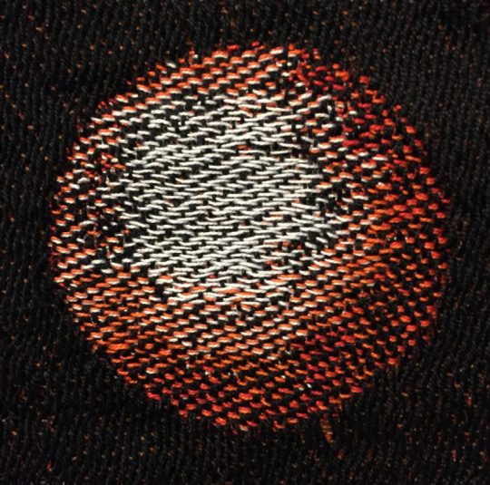a perfect handwoven circle