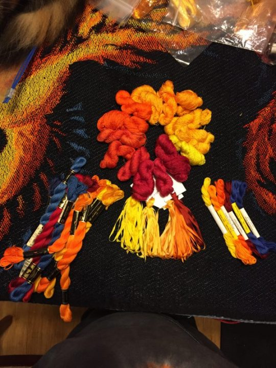 a more organized look at the embroidery threads