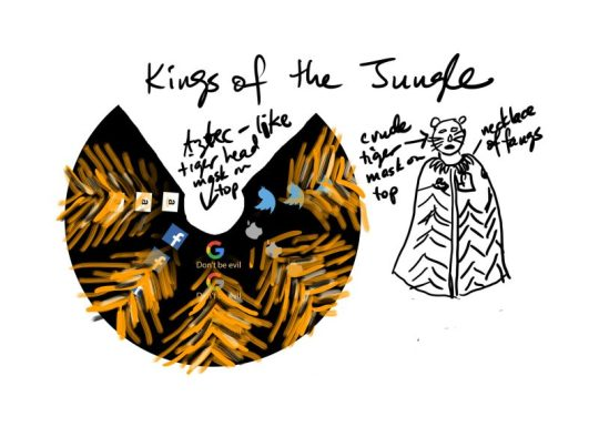 sketchbook idea - tiger cloak