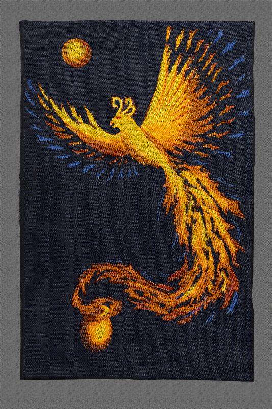 """Handwoven phoenix #2 - """"Goodbye, Ma #2"""""""