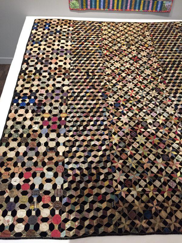 intricate scrap quilt