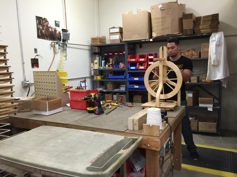 spinning wheel assembly