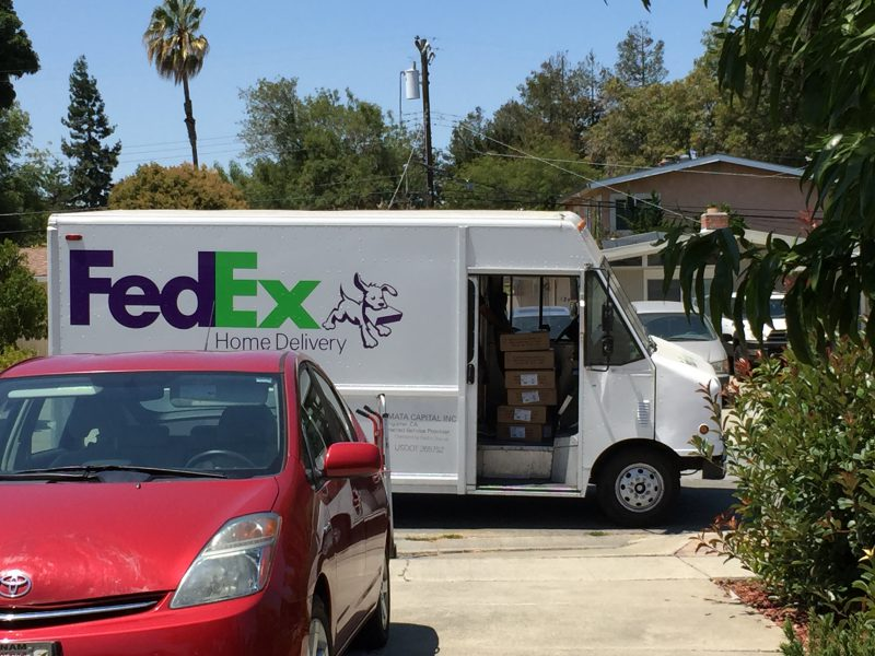 FedEx truck with a quarter-ton of copies of Master Your Craft