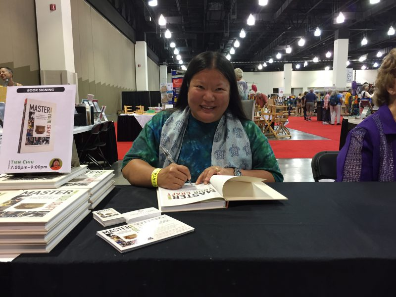 Tien Chiu signing her new book Master Your Craft: Strategies for Designing, Making, and Selling Artisan Work