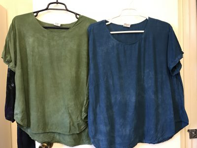 immersion dyed blouses