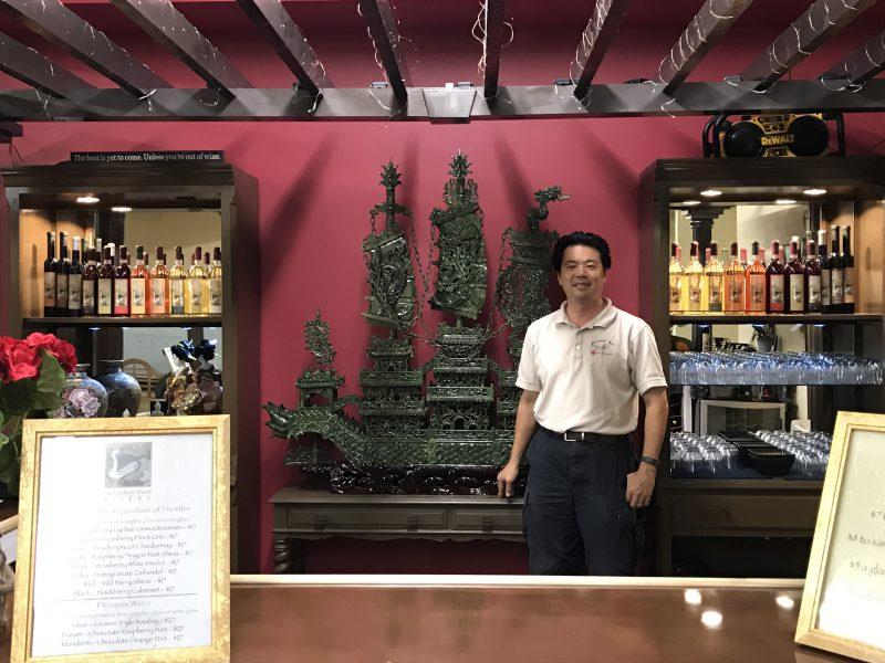 Tien-Seng Chiu at the Far Eastern Shore Winery