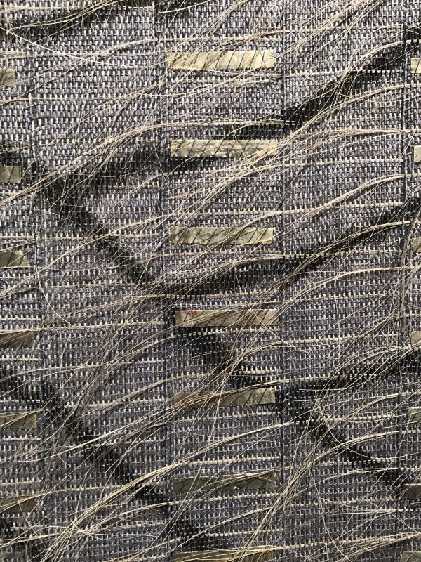 """Closeup of """"Silver Waves"""", by Adela Akers, Browngrotta arts gallery"""