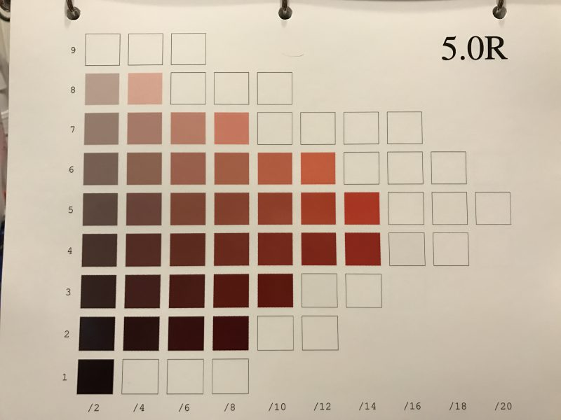 one hue of the Munsell color system