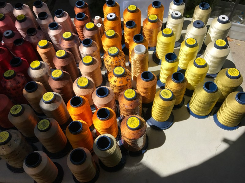 rayon machine embroidery thread - yellows and oranges