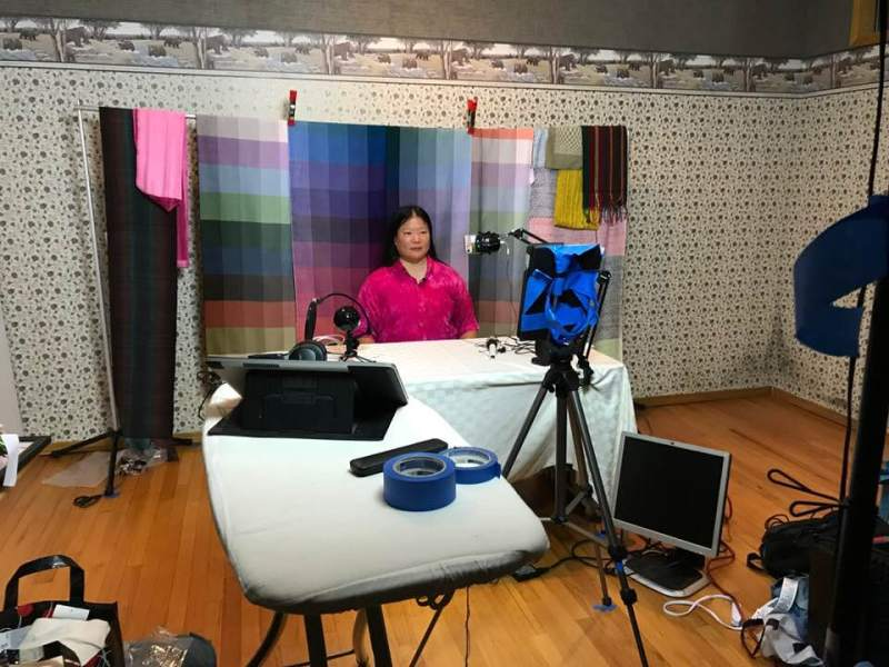 video production studio for Color Courage for Weavers