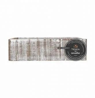 Caja de Madera Rústica Lado en Tienda de Canastas