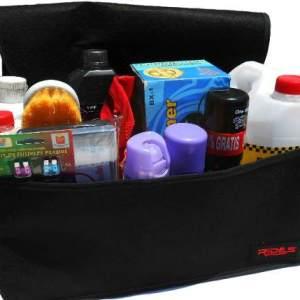 Bolso Organizador De Baul  Auto Con Velcro Y Tapa Regulable.