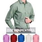 Camisa Hombre Lisa Color Manga Larga Variedad De Colores