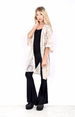 Kimono De Encaje Labrado-axioma