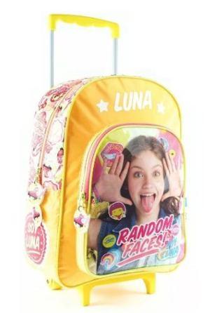 Mochila Soy Luna Con Carrito Original Grande 16 Carro