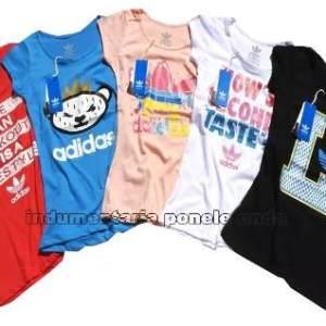 Remeras Adidas Mujer Originals Por Mayor Pack 10u