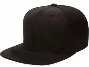 Gorra Snapback Visera Recta Plana Color Negra